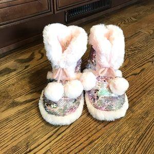 Girls Sequin Slippers
